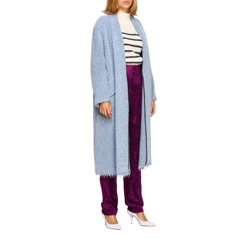 Cappotto donna Isabel Marant Etoile azzurro 2