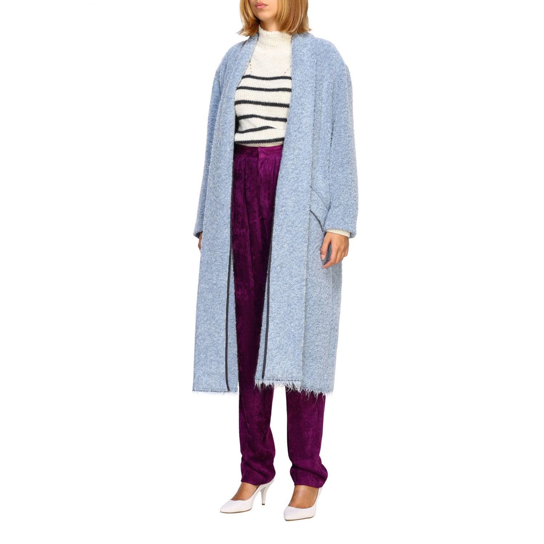 Cappotto donna Isabel Marant Etoile azzurro 4