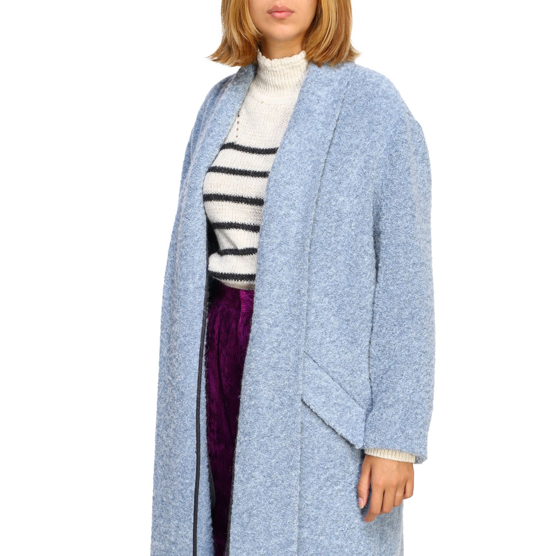 Cappotto donna Isabel Marant Etoile azzurro 5