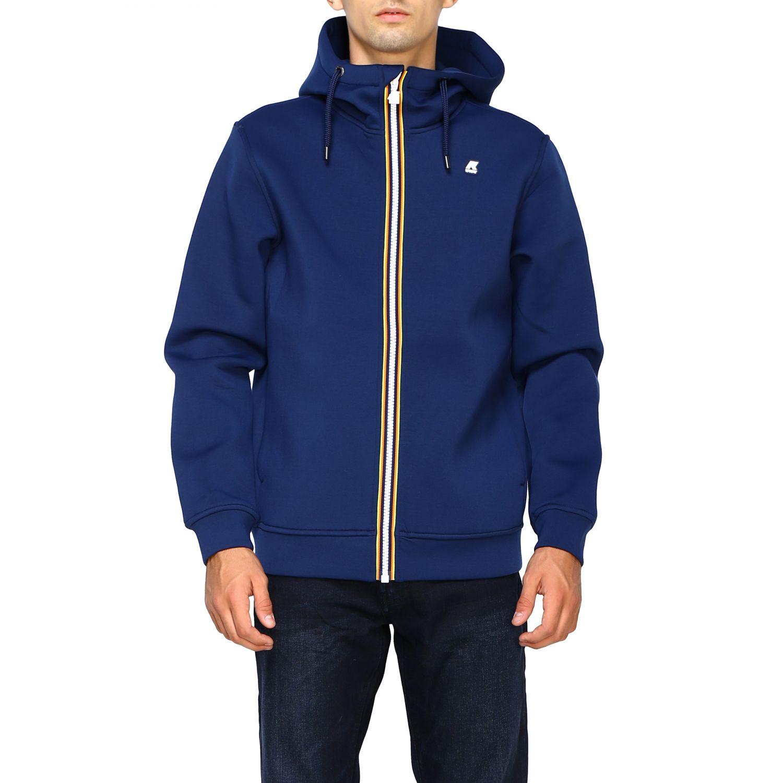 Sweatshirt men K-way blue 1