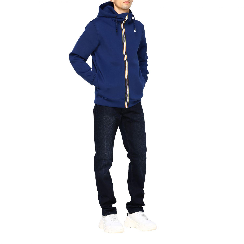 Sweatshirt men K-way blue 2