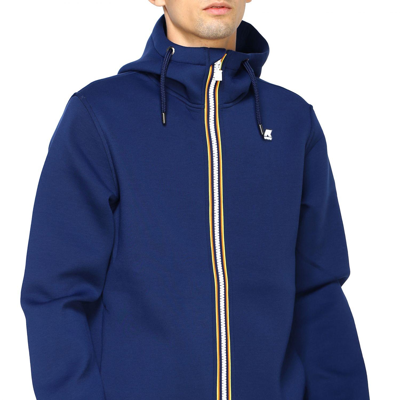 Sweatshirt men K-way blue 5