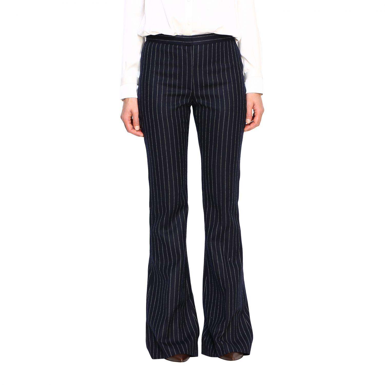 Pantalón mujer Alexander Mcqueen azul oscuro 1