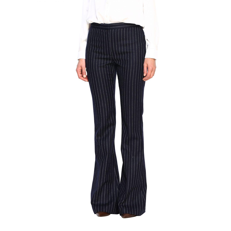 Pantalón mujer Alexander Mcqueen azul oscuro 4