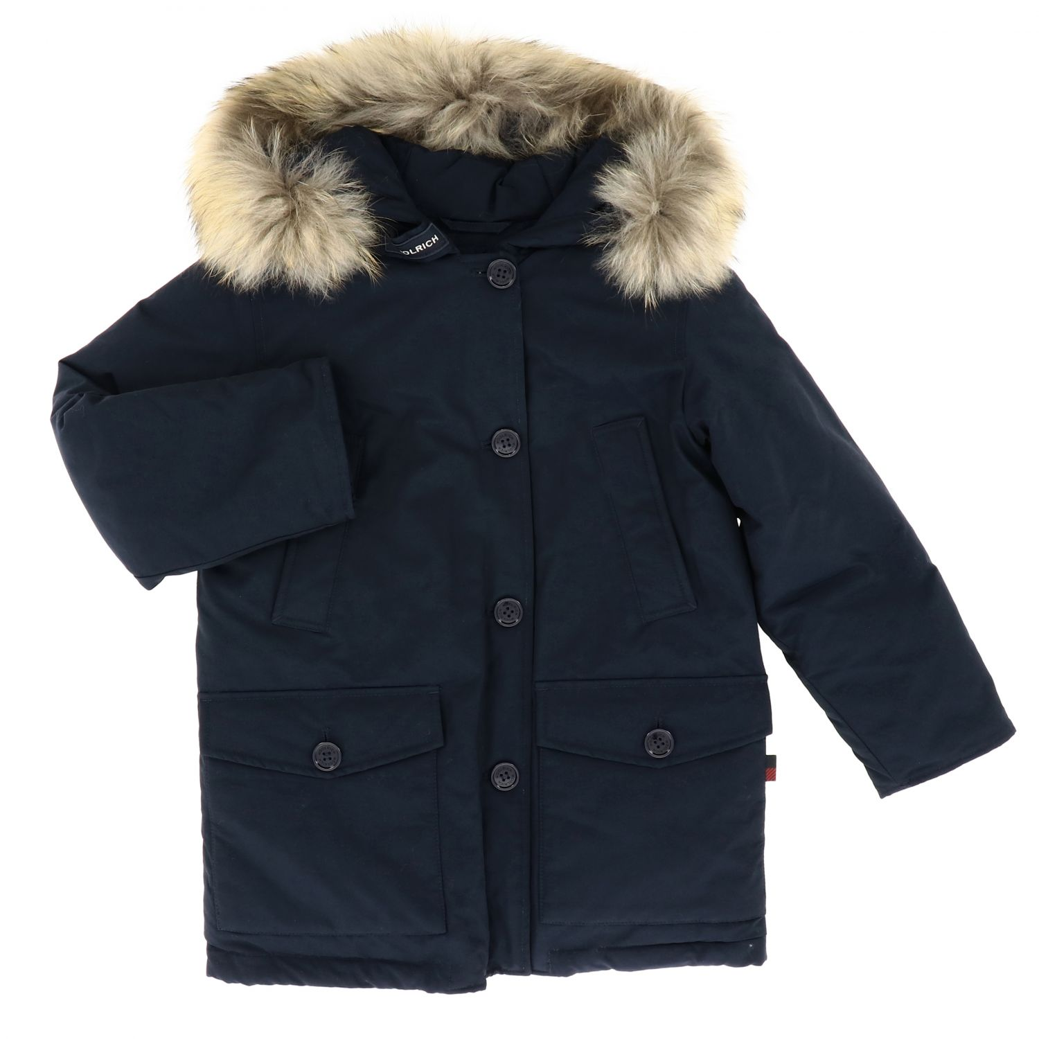 Cappotto Woolrich: Cappotto bambino Woolrich blue 1