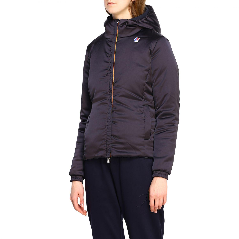 Jacket women K-way blue 1 4