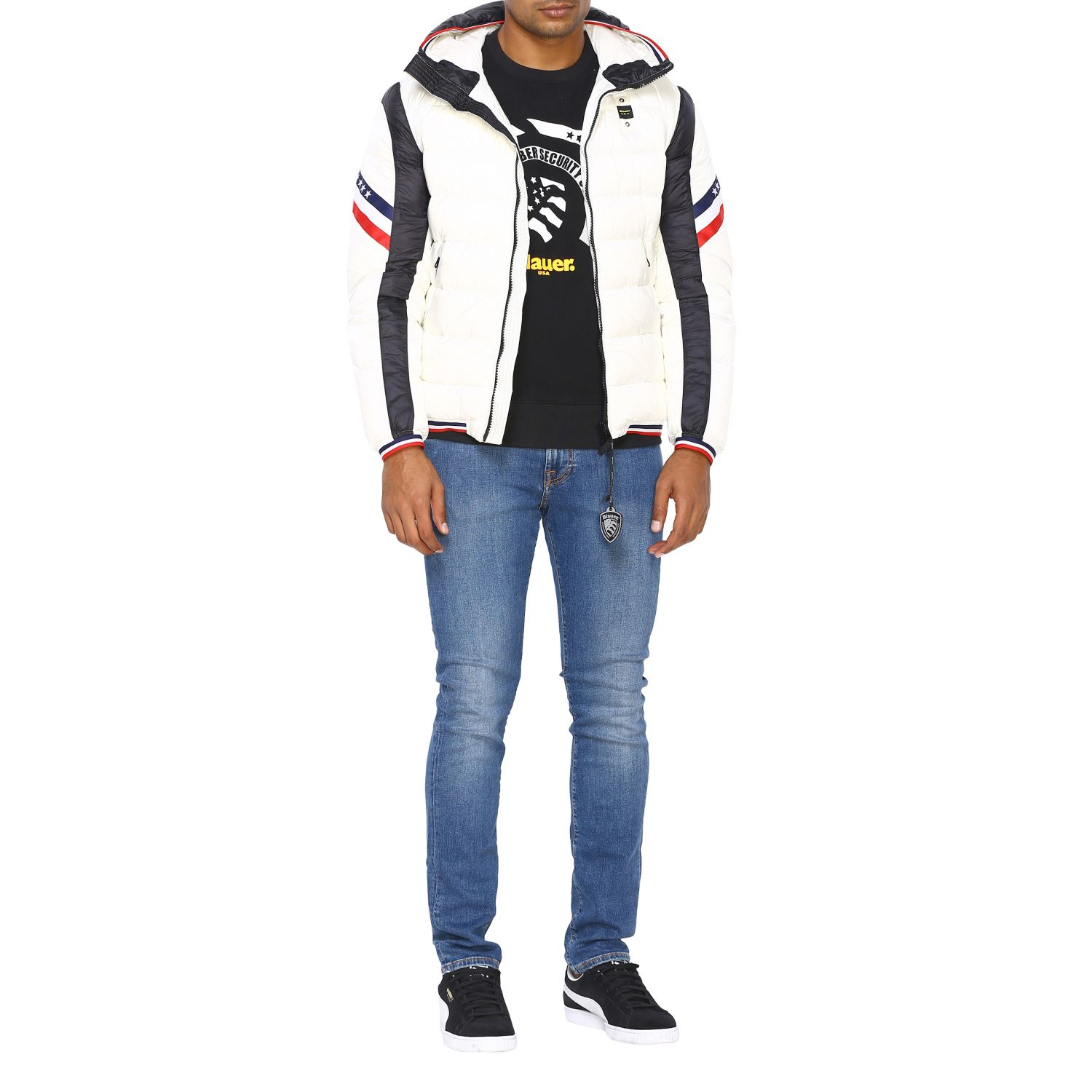 Jacket men Blauer white 2