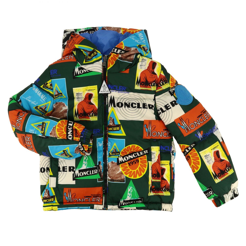 Coat kids Moncler green 1