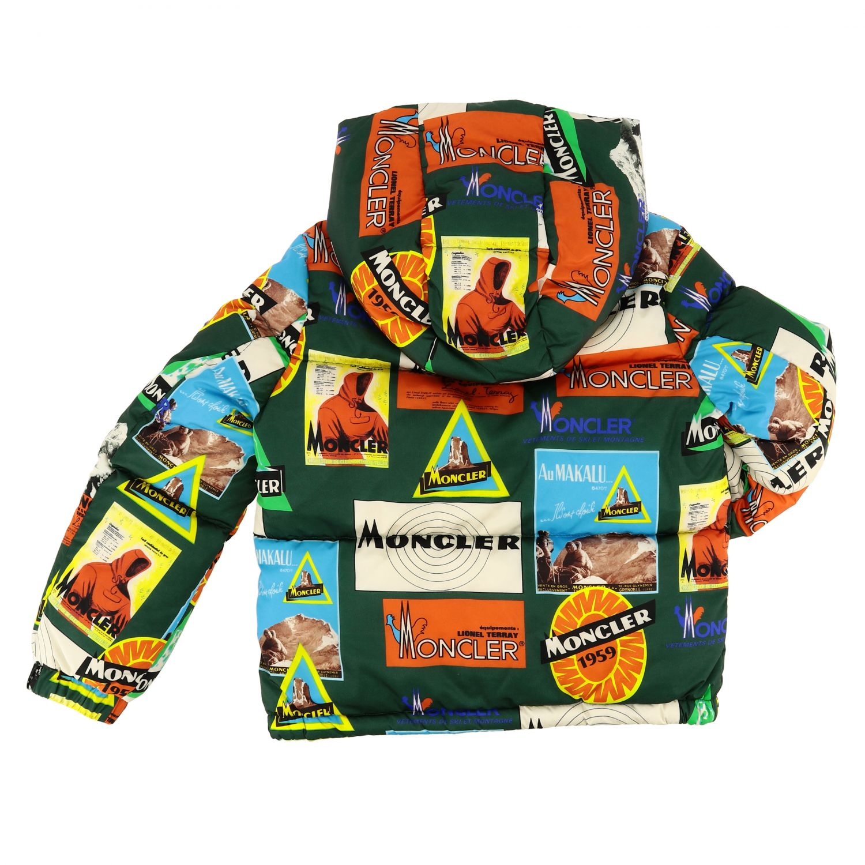 Coat kids Moncler green 2
