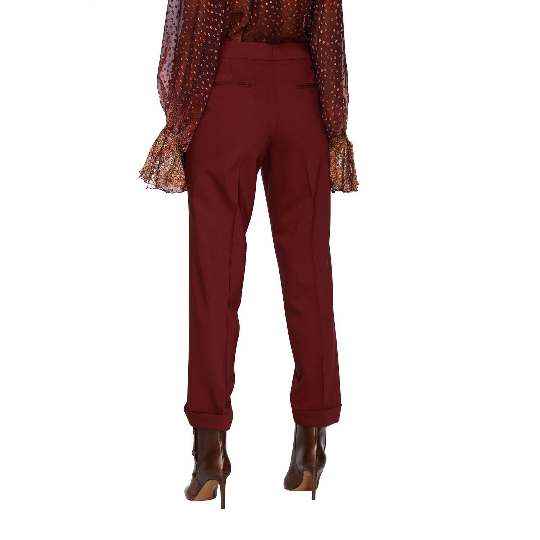 Trousers women Etro burgundy 3