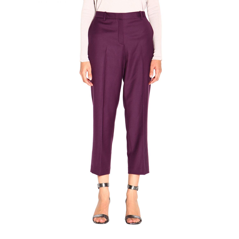 Pantalone donna Theory viola 1
