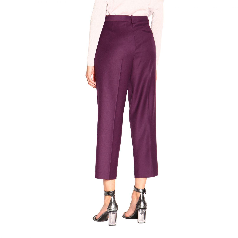 Pantalone donna Theory viola 3