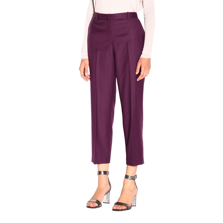 Pantalone donna Theory viola 4