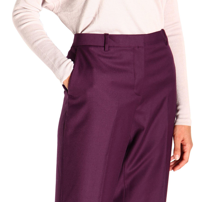 Pantalone donna Theory viola 5