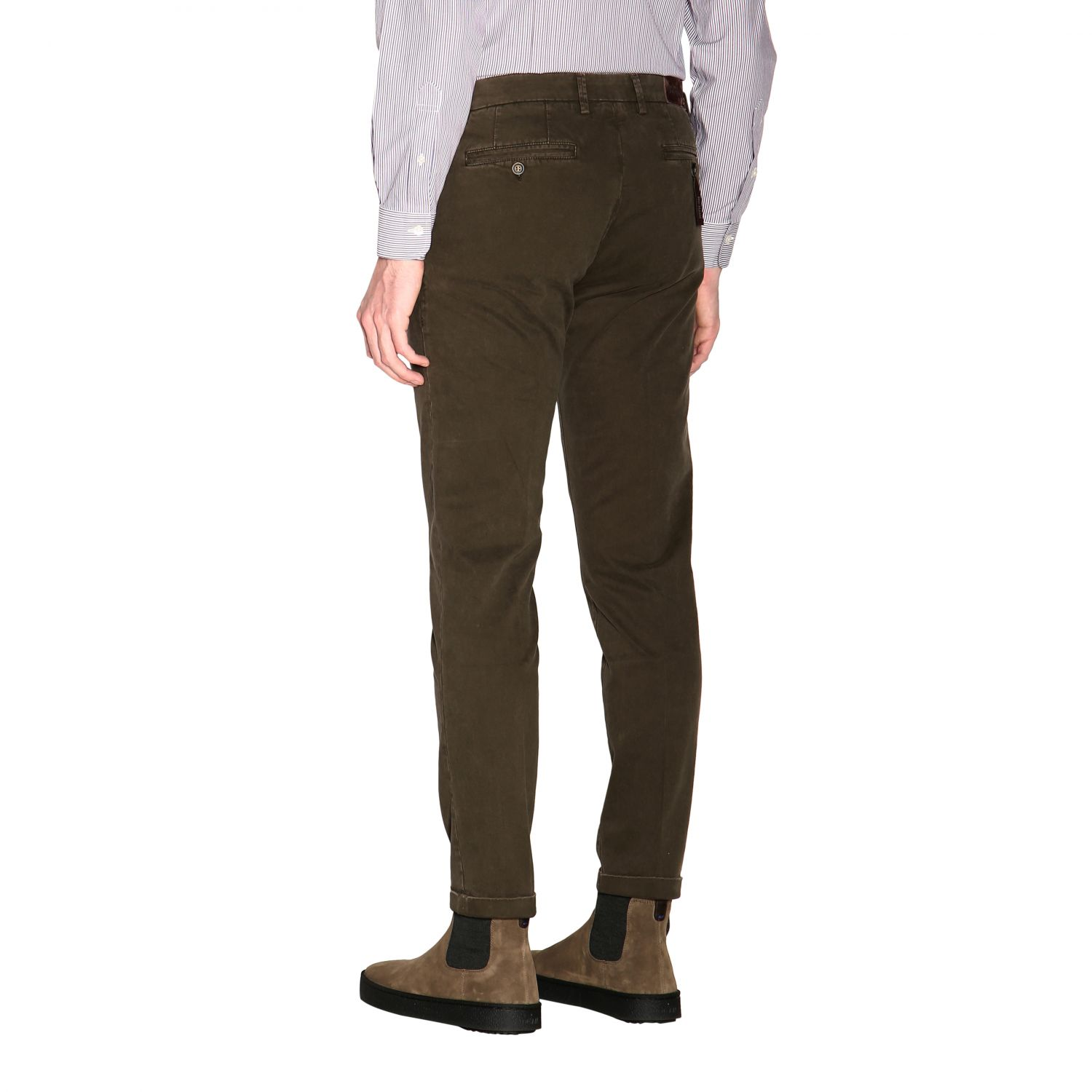 Pants men Re-hash green 3