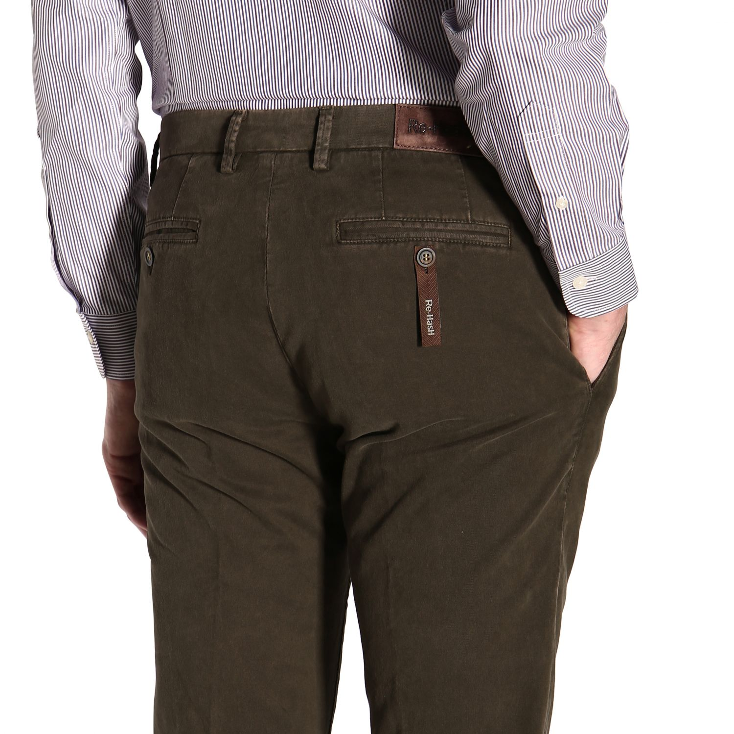 Pants men Re-hash green 5