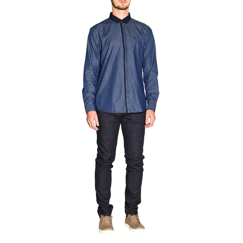 Рубашка Armani Exchange: Рубашка Мужское Armani Exchange синий 2