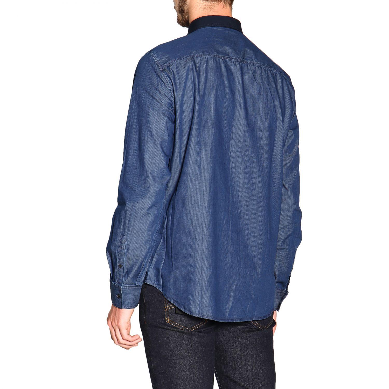 Рубашка Armani Exchange: Рубашка Мужское Armani Exchange синий 3