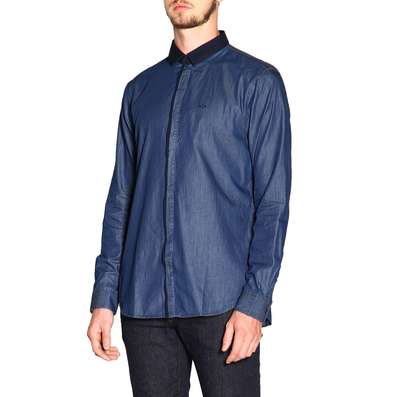 Рубашка Armani Exchange: Рубашка Мужское Armani Exchange синий 4