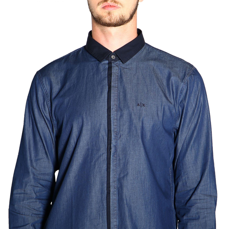 Рубашка Armani Exchange: Рубашка Мужское Armani Exchange синий 5