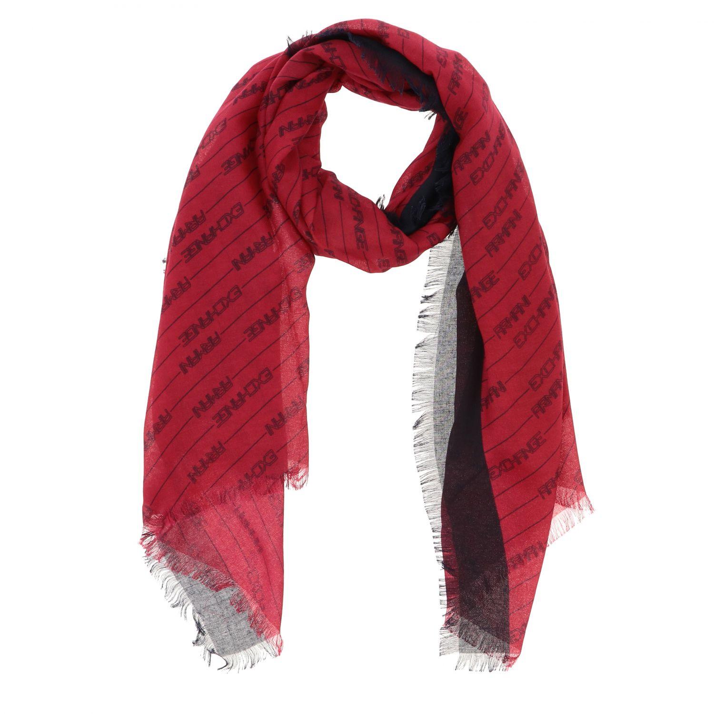 Foulard Armani Exchange: Foulard Armani Exchange con logo all over rosso 2