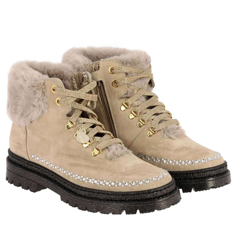 Zapatos Monnalisa: Zapatos niños Monnalisa beige 2