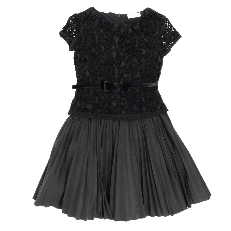 Robe enfant Monnalisa Chic noir 1
