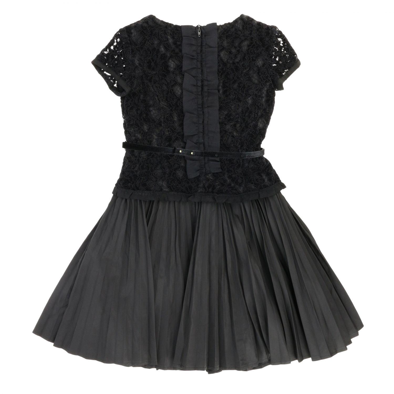 Robe enfant Monnalisa Chic noir 2