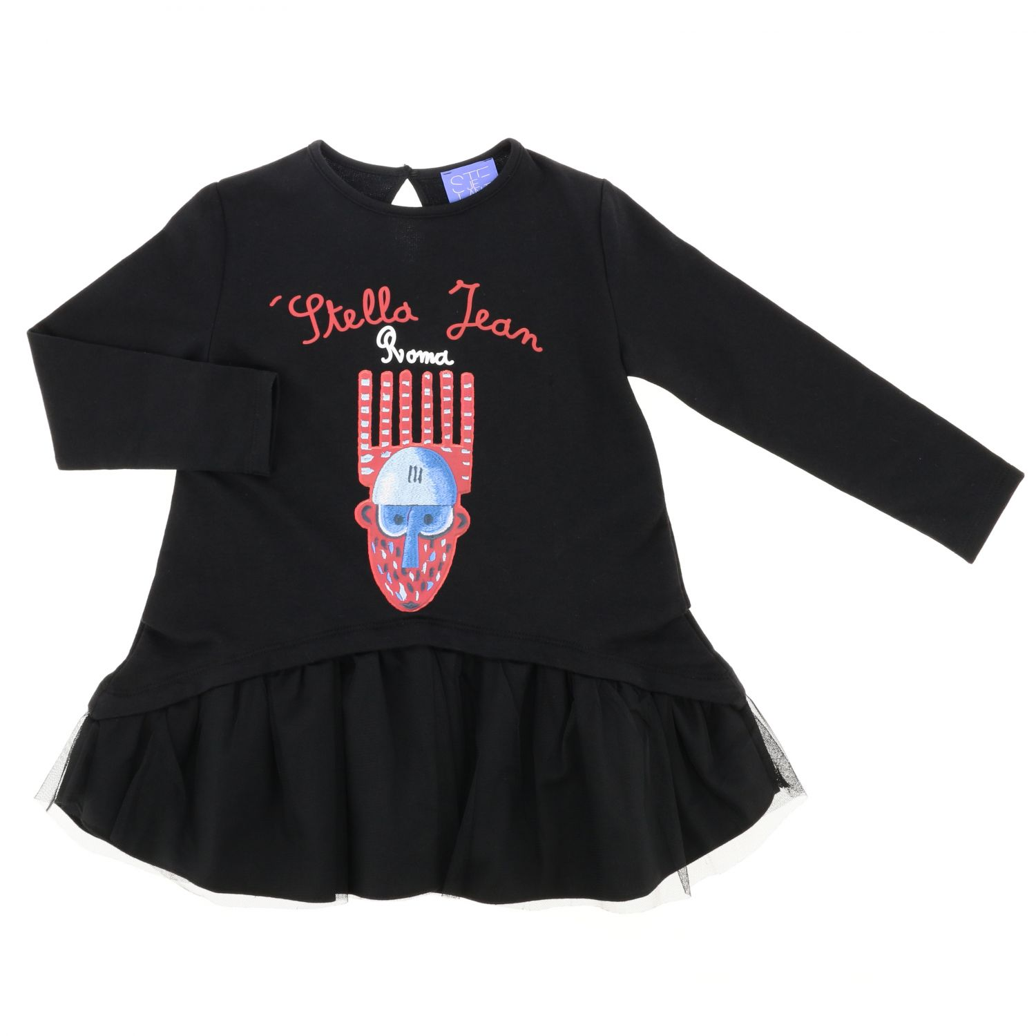 Dress kids Stella Jean black 1