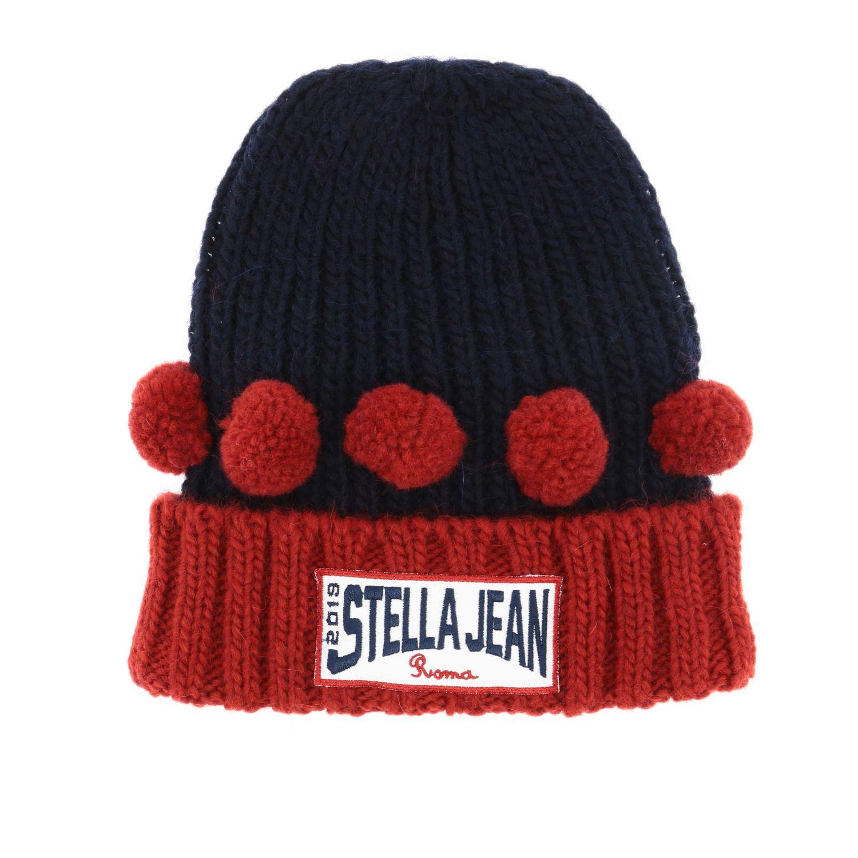 Hat girl kids Stella Jean blue 1