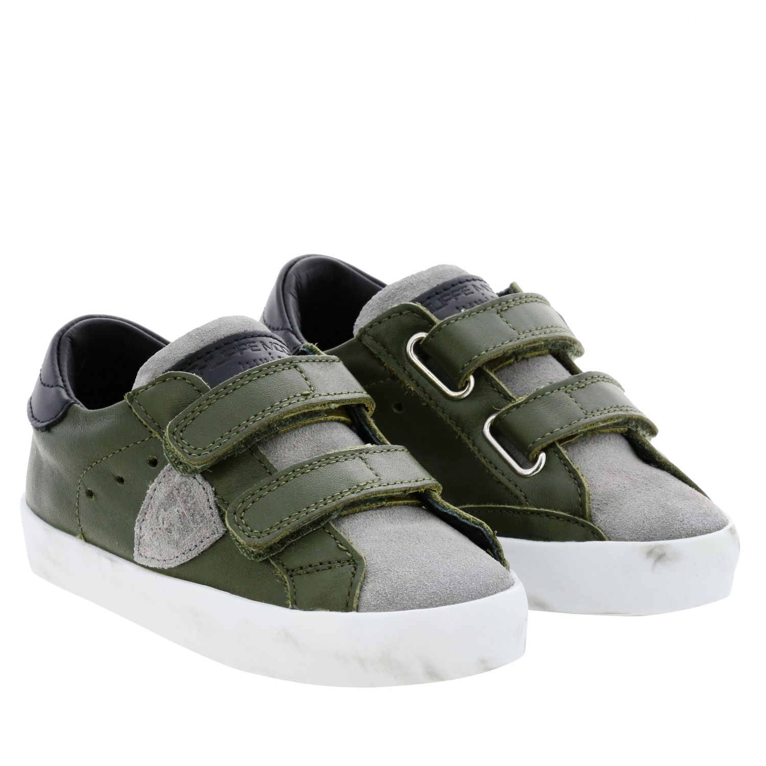 Shoes kids Philippe Model green 2