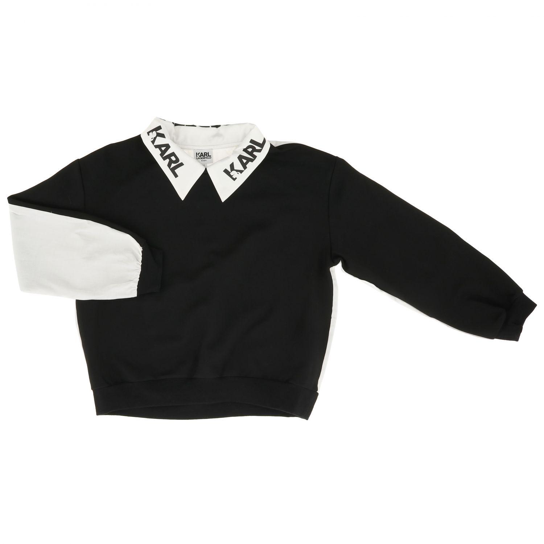 Pullover kinder Karl Lagerfeld Kids schwarz 1