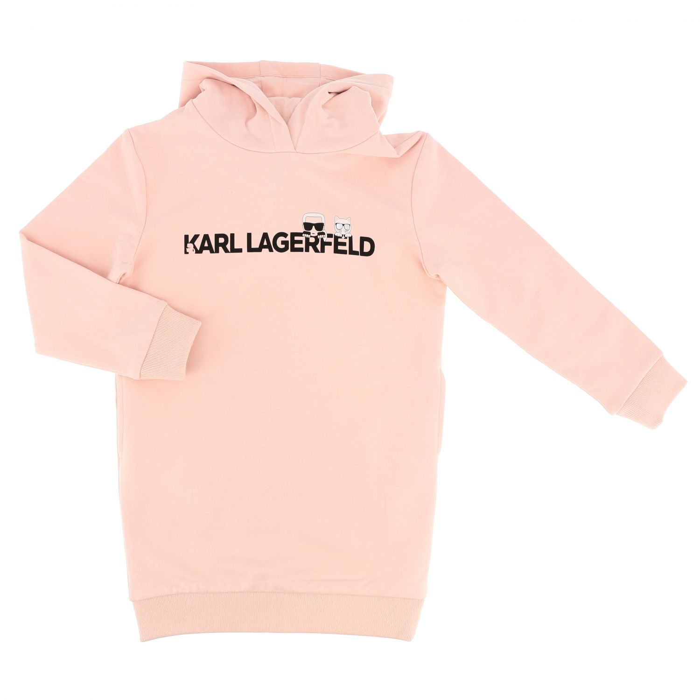 Vestido niños Karl Lagerfeld Kids rosa 1