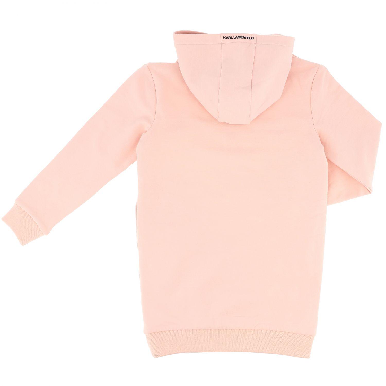 Vestido niños Karl Lagerfeld Kids rosa 2