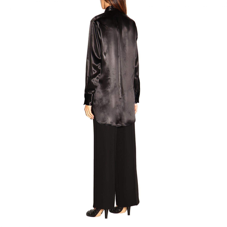Camicia Bottega Veneta: Camicia Bottega Veneta lunga in seta con plastron nero 2
