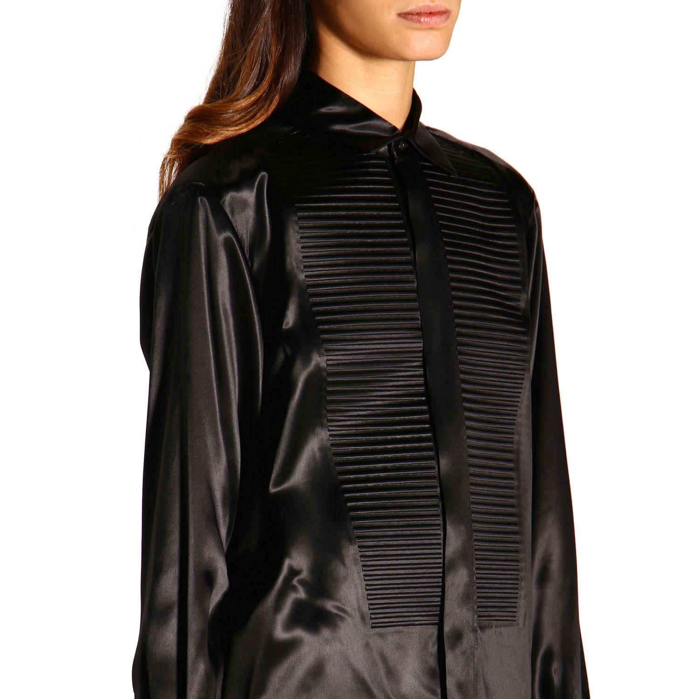 Camicia Bottega Veneta: Camicia Bottega Veneta lunga in seta con plastron nero 4