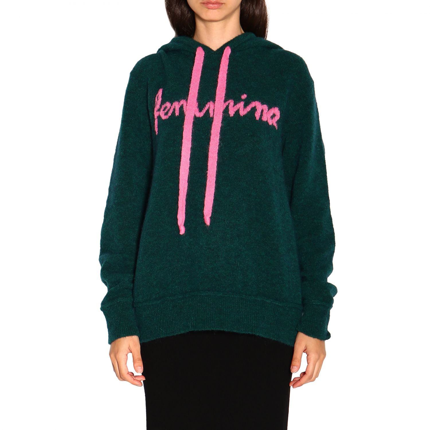Sweatshirt women Marco Rambaldi green 1
