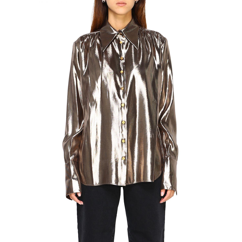 Camicia Alberta Ferretti: Camicia Alberta Ferretti in tessuto laminato oro 1