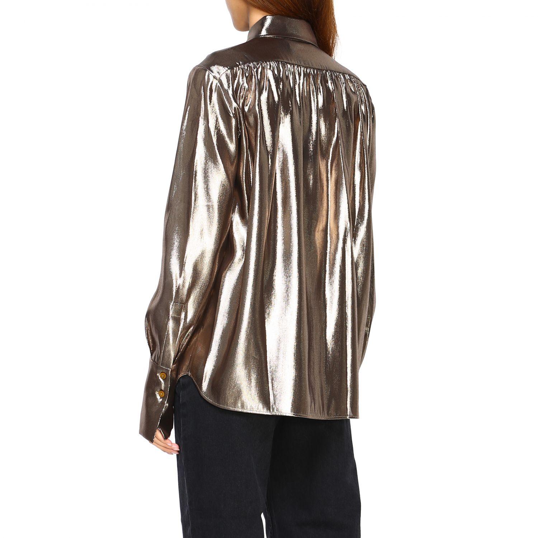 Camicia Alberta Ferretti: Camicia Alberta Ferretti in tessuto laminato oro 3