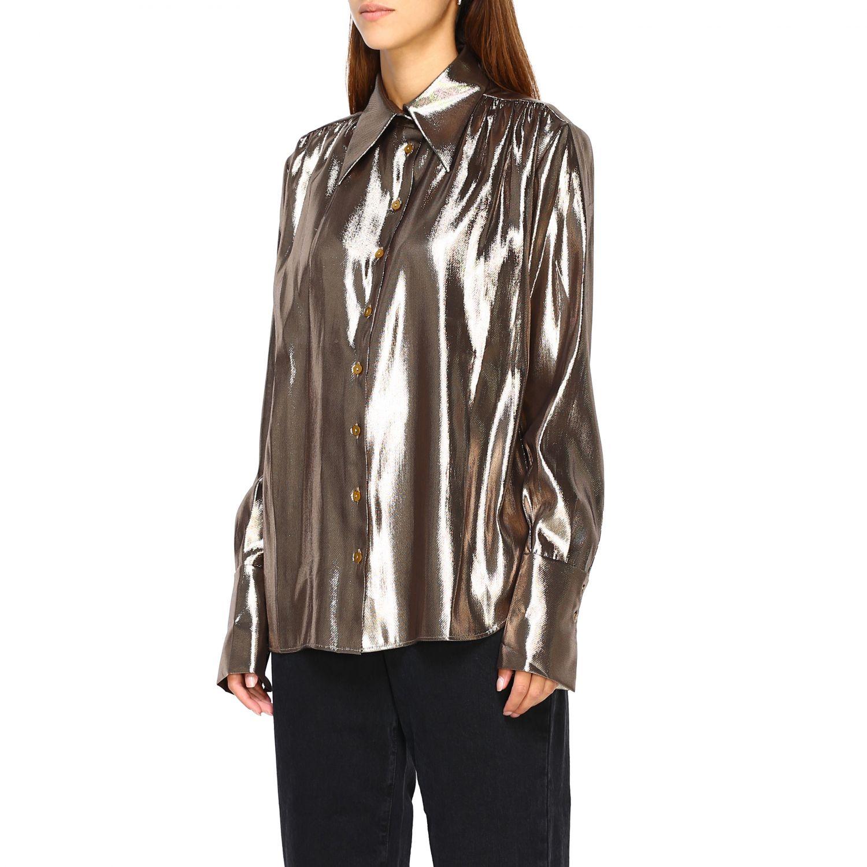 Camicia Alberta Ferretti: Camicia Alberta Ferretti in tessuto laminato oro 4