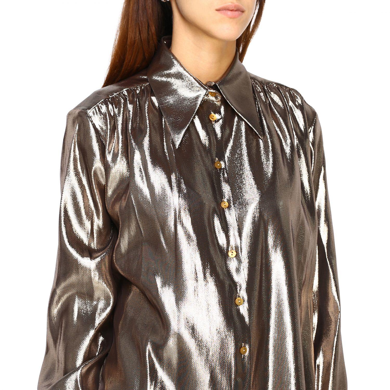 Camicia Alberta Ferretti: Camicia Alberta Ferretti in tessuto laminato oro 5
