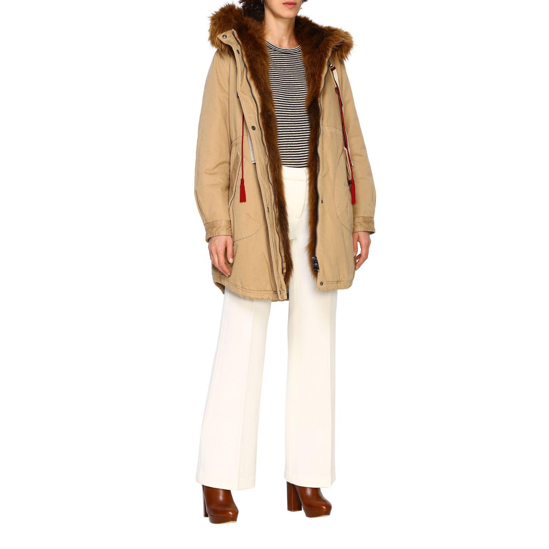 Abrigo mujer Alessandra Chamonix beige 2