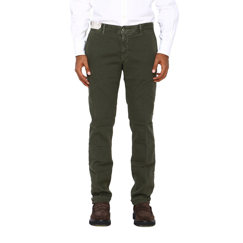 Pantalone uomo Incotex verde 1