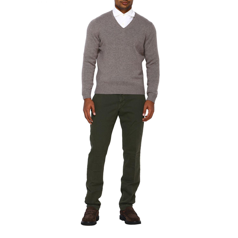 Pantalone uomo Incotex verde 2
