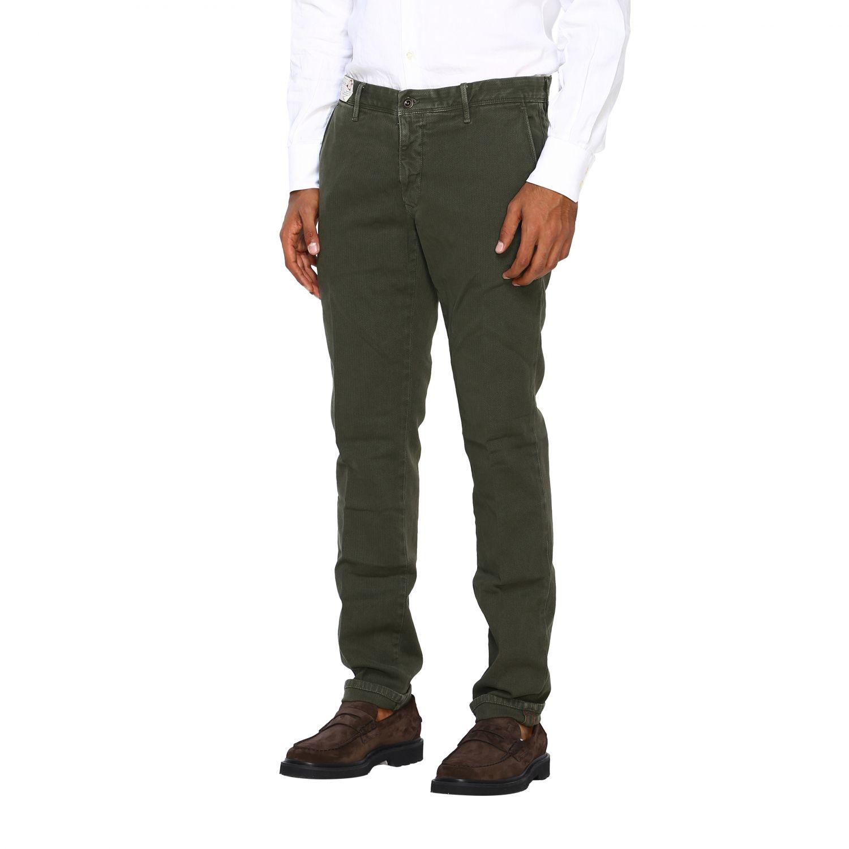 Pantalone uomo Incotex verde 4