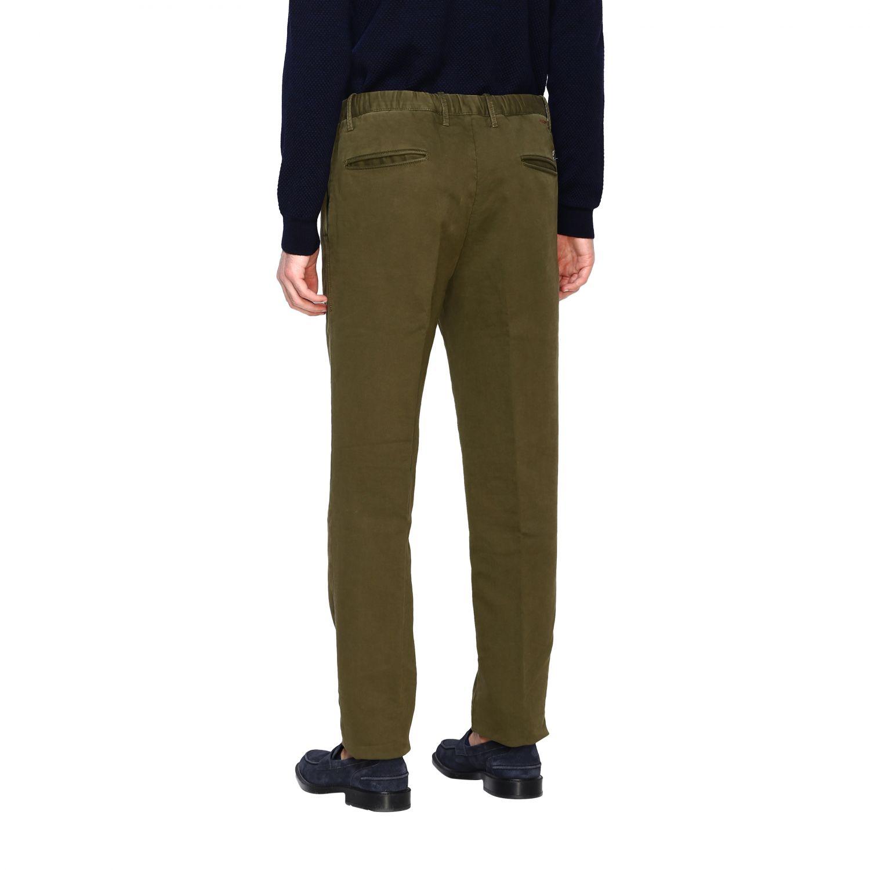 Pantalone uomo Incotex verde 3