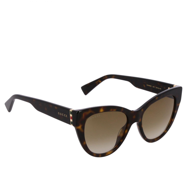 Brille Gucci: Gucci GG0460S Sonnenbrille in Azetat Nasensteg 18 Bügel 145 braun 1
