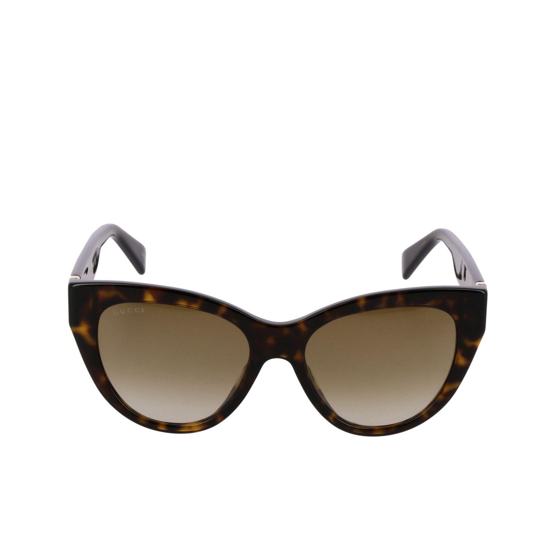 Brille Gucci: Gucci GG0460S Sonnenbrille in Azetat Nasensteg 18 Bügel 145 braun 2