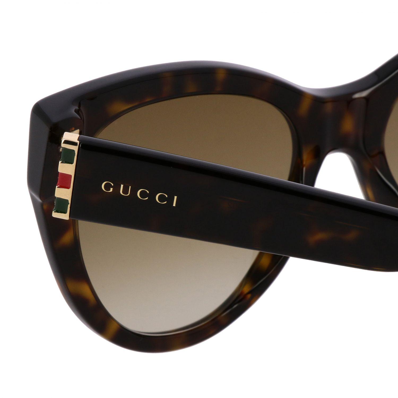 Brille Gucci: Gucci GG0460S Sonnenbrille in Azetat Nasensteg 18 Bügel 145 braun 3