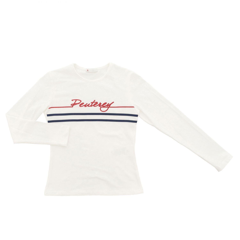 T-shirt Peuterey a maniche lunghe con stampa panna 1
